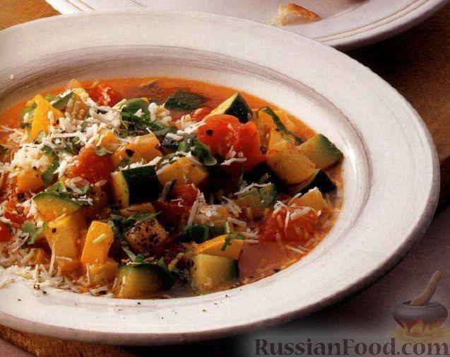 Рецепт Овощной суп с сыром