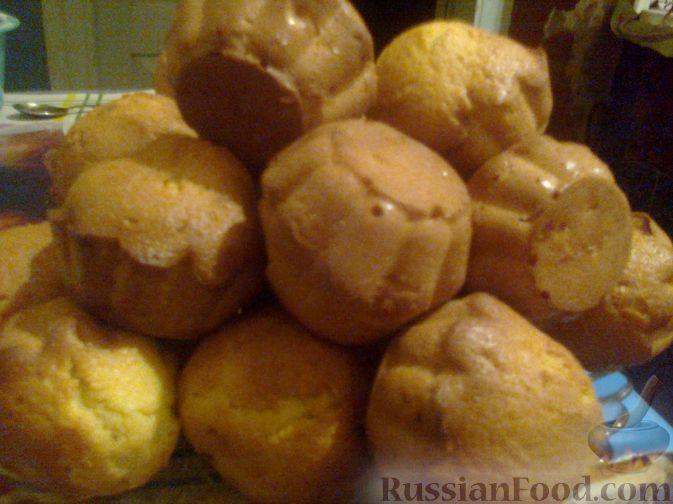 Рецепт Быстрые кексы в силиконовой форме