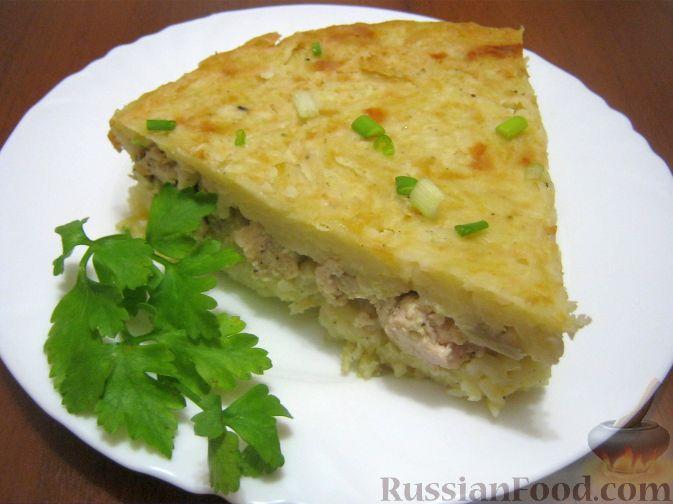 Рецепт Запеканка из вермишели с курицей и грибами