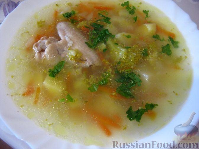 Рецепт Суп куриный с брокколи в мультиварке
