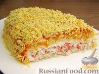 Фото к рецепту: Нежный салат с крабовыми палочками
