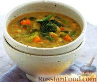 Фото к рецепту: Фасолевый суп с овощами и соусом песто