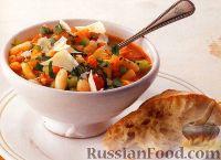 Фото к рецепту: Овощной суп с фасолью и макаронами