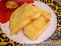 Фото к рецепту: Сладкий омлет с манкой