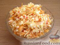 Фото к рецепту: Крабовый салат с овощами