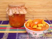 Фото к рецепту: Лечо с кабачками