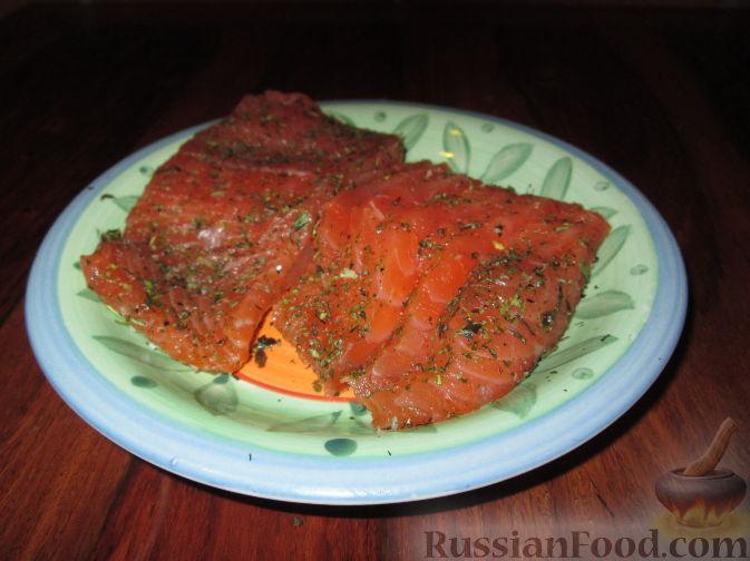 Рецепт Малосольная красная рыба