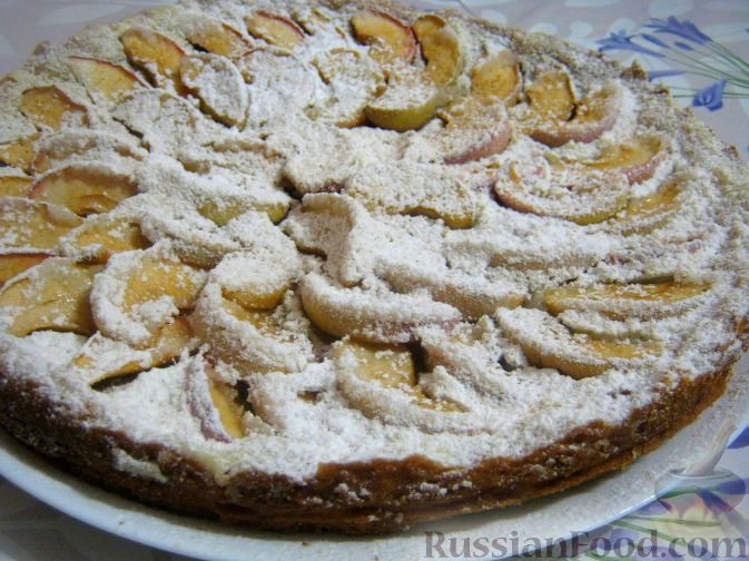 Рецепт Пирог песочный с яблоками