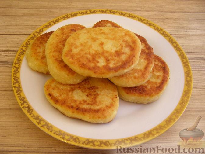 Рецепт Сырники с яблочным пюре
