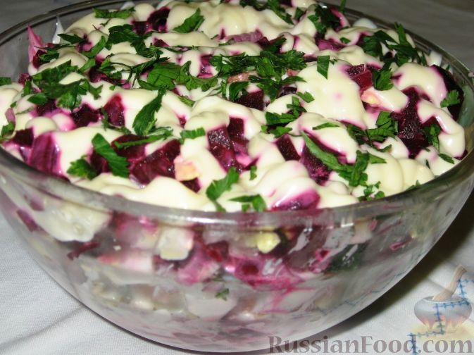 Рецепт Свекольно-селедочный салат