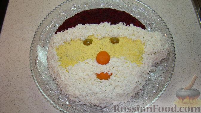 "Фото приготовления рецепта: Салат ""Дед Мороз"" - шаг №10"
