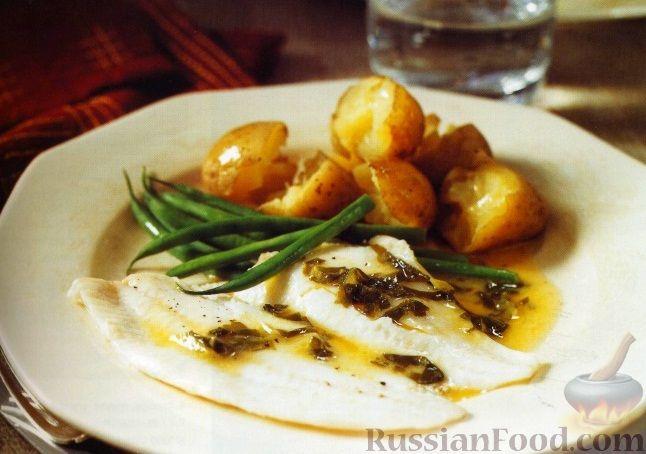 Рецепт Жареная камбала с щавелевым соусом