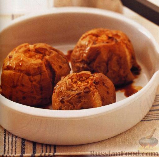 Рецепт Печеные яблоки, фаршированные имбирем и медом