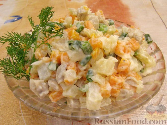 Рецепт Оливье вегетарианский