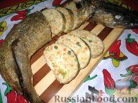 Фото к рецепту: Фаршированная щука с сельдереем и каперсами