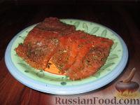 Фото к рецепту: Малосольная красная рыба