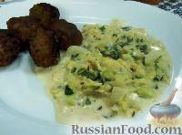 Фото к рецепту: Тушеная капуста вирзинг (савойская) в сливочном соусе (Rahmwirsing)