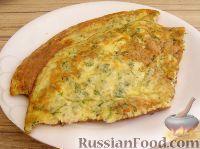 Фото к рецепту: Омлет с укропом и сыром