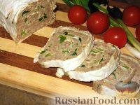 Фото к рецепту: Паштет из куриных потрошков и свинины в лаваше