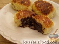 Фото к рецепту: Сырники с шоколадом