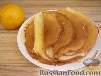 Фото к рецепту: Блины апельсиновые
