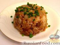 Фото к рецепту: Рис с баклажанами