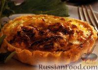Фото к рецепту: Тарталетки с луком и сыром