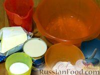 "Фото приготовления рецепта: Торт ""Птичье молоко"" (по классическому рецепту) на брауни - шаг №3"