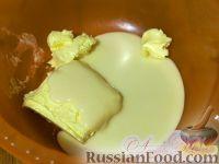 "Фото приготовления рецепта: Торт ""Птичье молоко"" (по классическому рецепту) на брауни - шаг №5"