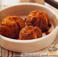 Фото к рецепту: Печеные яблоки, фаршированные имбирем и медом
