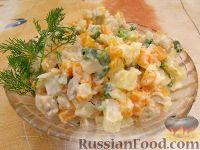 Фото к рецепту: Оливье вегетарианский