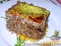 Фото к рецепту: Гречневая каша с молотым мясом и грибами