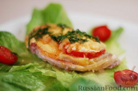 Рецепт Курица по французски с луком и сыром.