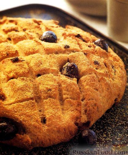 Рецепт Луковый хлеб с оливками и пармезаном