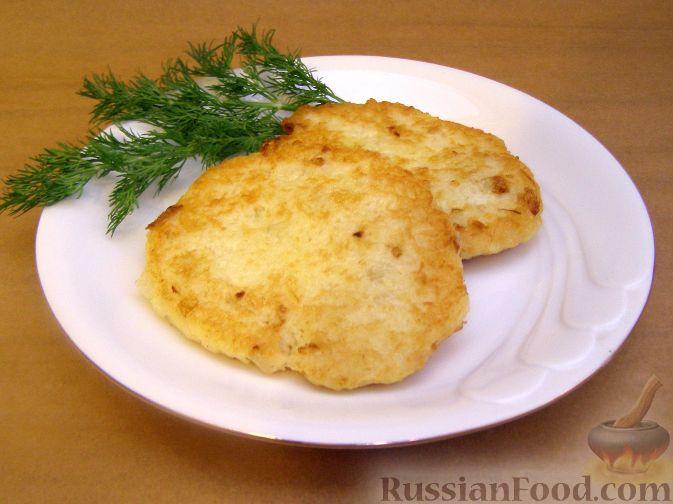 Рецепт Деруны с жареным луком