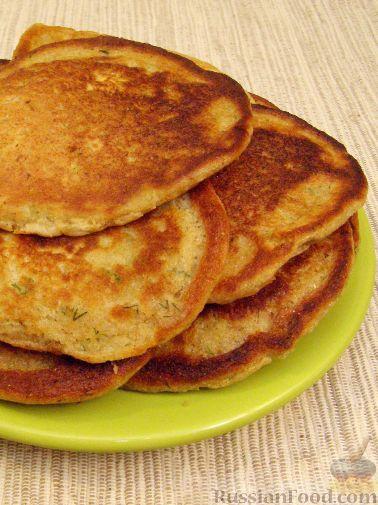 Рецепт Закусочные оладушки на кефире