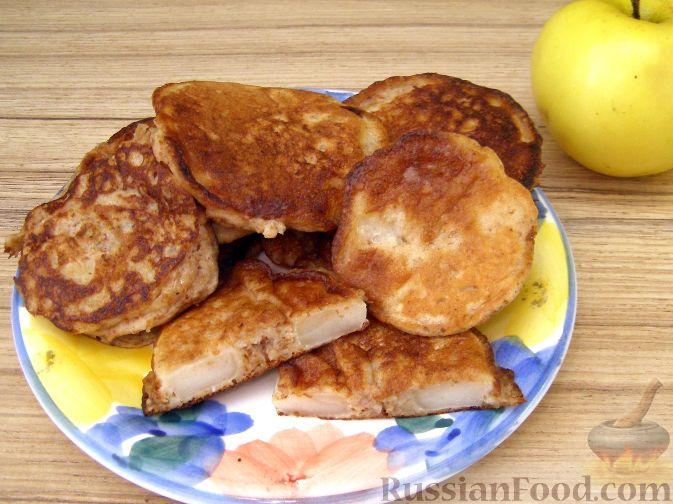Рецепт Полезные оладушки с яблоками