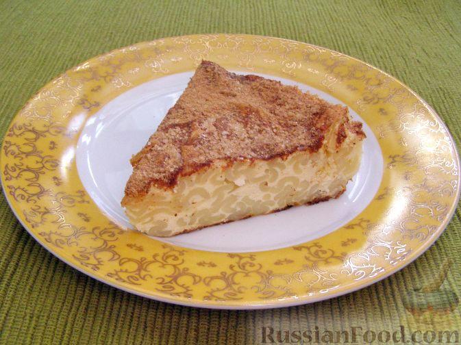Рецепт Творожная запеканка с макаронами и корицей
