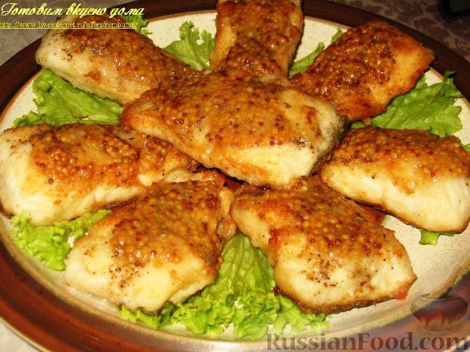 Рецепт Жареная щука с горчичным соусом
