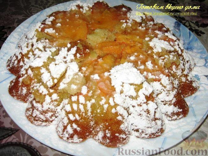 Фото приготовления рецепта: Перевернутый пирог с хурмой - шаг №5