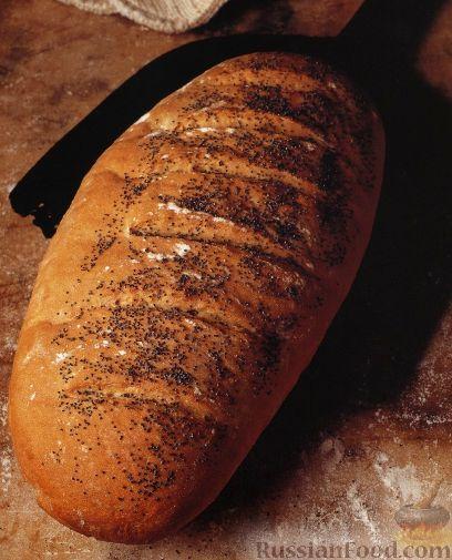 Рецепт Дрожжевой хлеб с маком в виде батона