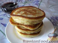 Фото к рецепту: Оладушки на кефире без яиц