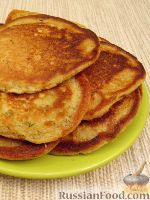Фото к рецепту: Закусочные оладушки на кефире