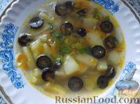 Фото к рецепту: Суп картофельно-оливковый