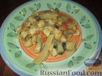 Фото к рецепту: Куриное филе с грибами и бамбуком