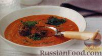 Фото к рецепту: Средиземноморский суп-пюре с соусом песто