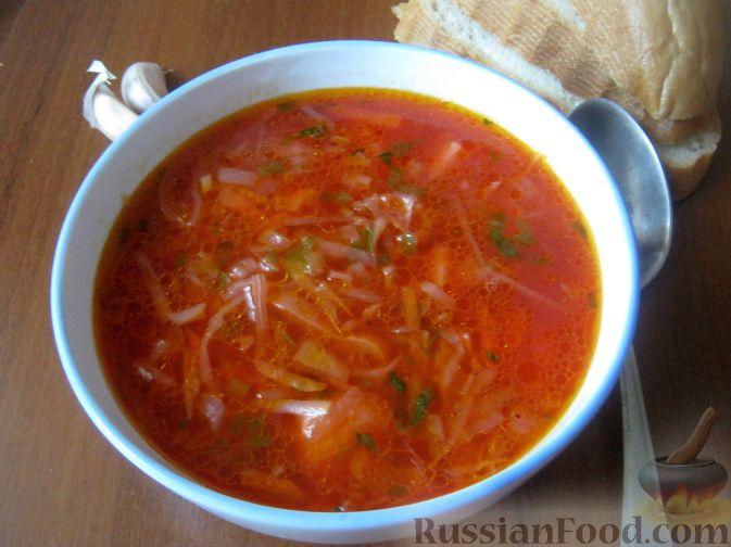 Рецепт Борщ постный с фасолью