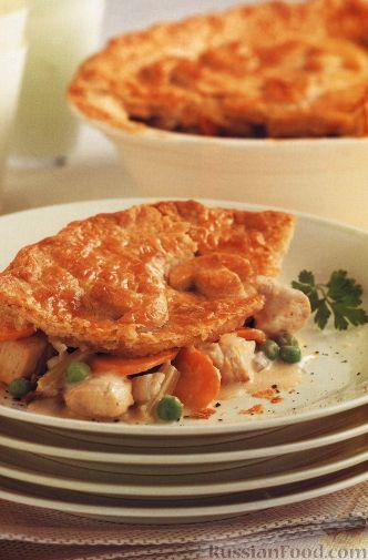 """Рецепт """"Пирог"""" с курицей и овощами"""