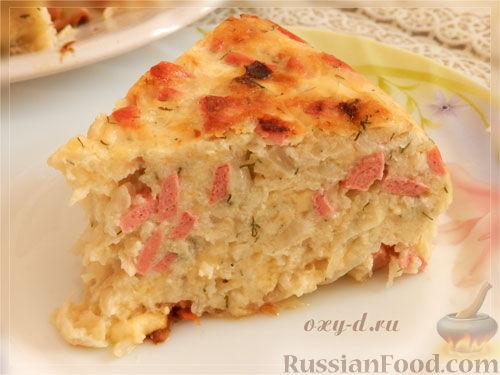 Рецепт Капустная запеканка с сыром (в мультиварке)