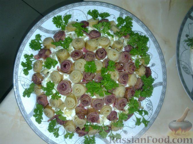 "Рецепт Салат ""Вкусная клумба"""